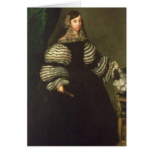 Señora de la familia de Medinaceli, c.1683 Tarjeta De Felicitación