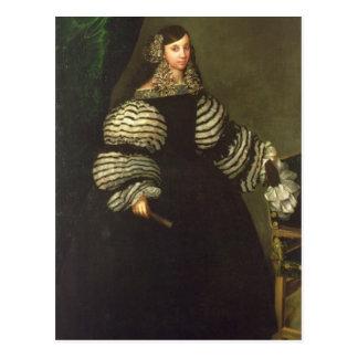 Señora de la familia de Medinaceli, c.1683 Tarjeta Postal