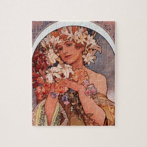Señora de la flor blanca - Mucha Puzzle