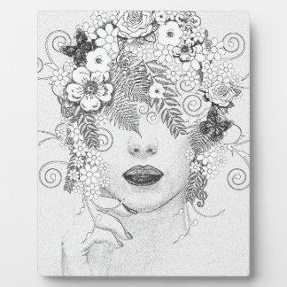 Señora de la flor placa