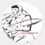 Señora de la guerra fría pegatina redonda
