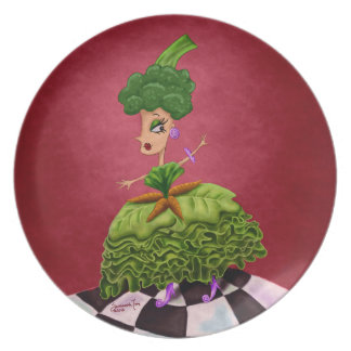 Señora de la lechuga plato para fiesta