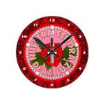 Señora de La Luz Round Clocks
