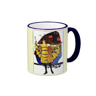 Señora de la mariposa taza