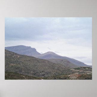 Señora de la montaña Alamogordo New México Póster