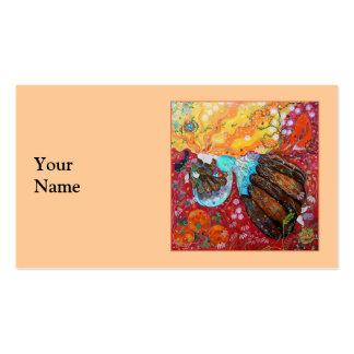 Señora de la naturaleza y las estaciones del año tarjetas de visita