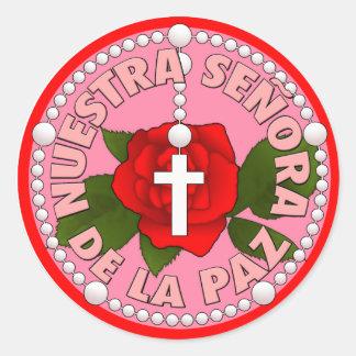 Señora de la Paz Classic Round Sticker