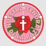 Señora de la Paz Round Stickers