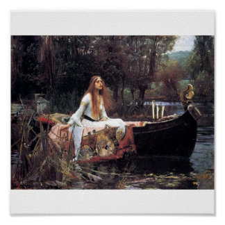Señora de la pintura de la antigüedad del chalote impresiones