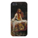 Señora de la pintura del Pre-Raphaelite del chalot iPhone 5 Cobertura