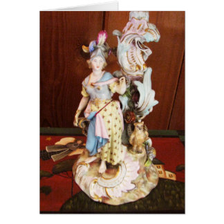 Señora de la porcelana tarjeta pequeña