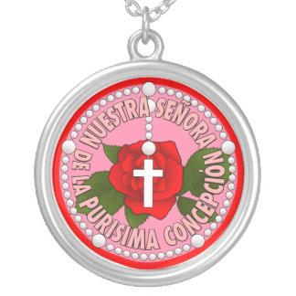 Señora de la Purisima Concepción Colgante Redondo