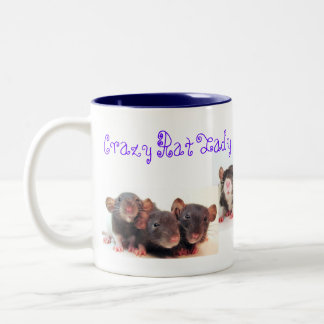 ¡Señora de la rata y orgulloso locos de él! Taza De Café De Dos Colores