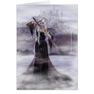 Señora de la tarjeta de felicitación de Avalon