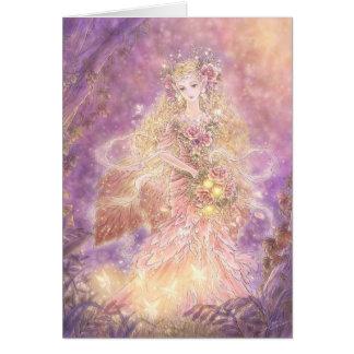 Señora de la tarjeta de felicitación del bosque