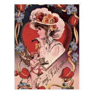 Señora de la tarjeta del día de San Valentín Tarjeta Postal
