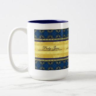 Señora de la taza elegante de la señoría del señor