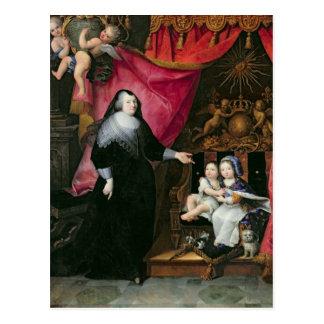 Señora de Lansac y los niños de Francia Postal