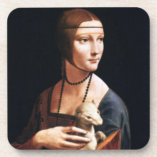 Señora de Leonardo da Vinci con los prácticos de c Posavasos De Bebidas