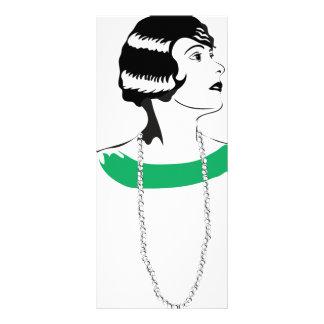 señora de los años 20 tarjetas publicitarias personalizadas