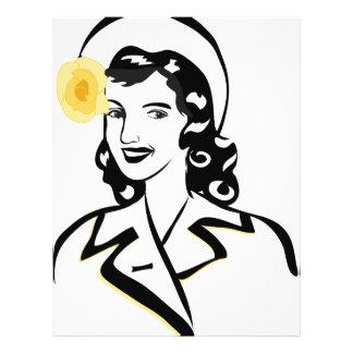 señora de los años 40 flyer personalizado