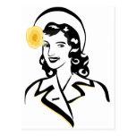 señora de los años 40 postal