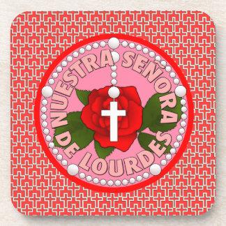 Señora de Lourdes Beverage Coaster