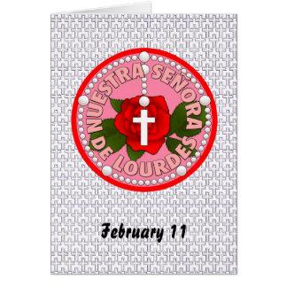 Señora De Lourdes Card