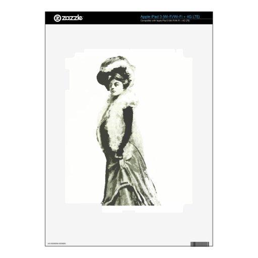 Señora de lujo iPad 3 pegatinas skins