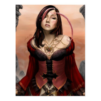 Señora de Midevil Postales