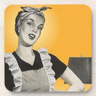 Señora de moda Neat House del vintage del práctico Posavasos De Bebida