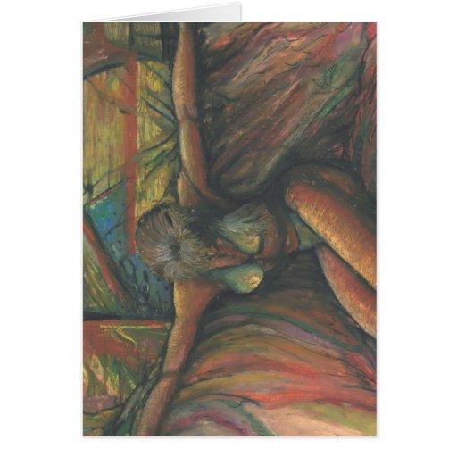 Señora de muchos colores tarjeta de felicitación