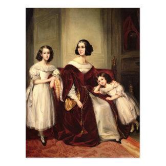 Señora de Nonjon y sus dos hijas, 1839 Postales