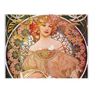 Señora de Nouveau del arte del ensueño del ensueño Postales