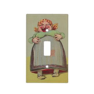 Señora de risa feliz LOL del vintage de la cubiert Cubiertas Para Interruptor