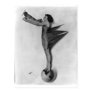 Señora de Rocket del vintage Postales