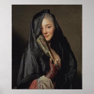 Señora de Roslin con el velo CC0013 Póster