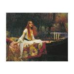Señora de Shalott con el pelo que fluye Impresión En Lienzo Estirada