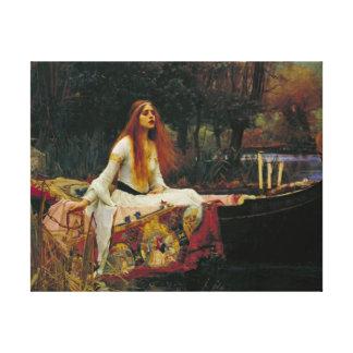 Señora de Shalott con el pelo que fluye Lona Envuelta Para Galerías