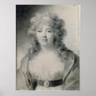 Señora de Stael 1810 Póster
