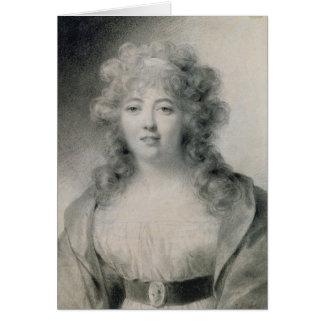 Señora de Stael 1810 Tarjeta De Felicitación