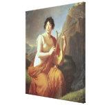 Señora de Stael como Corinne, 1809 Impresión En Lienzo Estirada