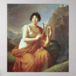 Señora de Stael como Corinne, 1809 Poster