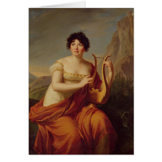 Señora de Stael como Corinne Tarjeta De Felicitación