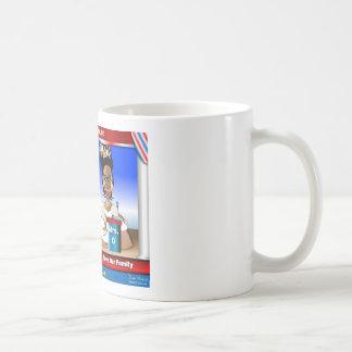 Señora Debate Tazas De Café