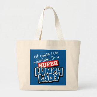 Señora del almuerzo por supuesto puedo bolsa tela grande