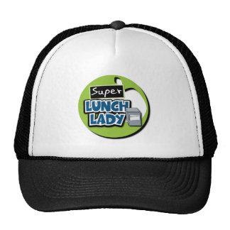 Señora del almuerzo - señora estupenda del gorros
