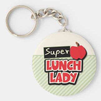 Señora del almuerzo - señora estupenda del llavero redondo tipo pin