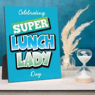 Señora del almuerzo - señora estupenda del placas con foto