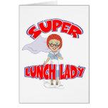 Señora del almuerzo - señora estupenda del tarjeta de felicitación